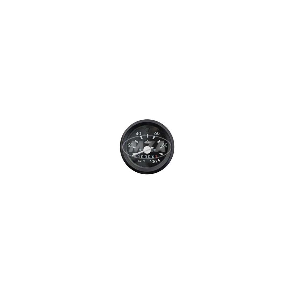 tachometer mit beleuchtung und blinkkontrollleuchte gr n. Black Bedroom Furniture Sets. Home Design Ideas