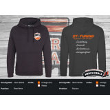 ZT-Tuning Fan Hoodie Black Smoke (Schwarz meliert)